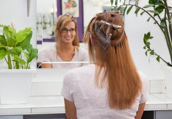 Frisur mit extensions